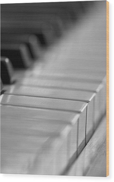 Piano Keys Wood Print by Falko Follert
