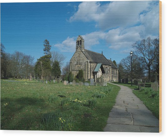 St John The Baptist Adel Wood Print