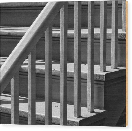 Stairs Wood Print by Robert Ullmann
