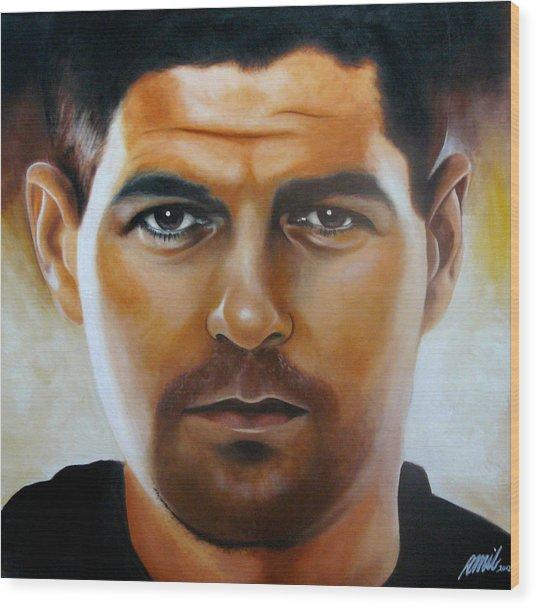 Steven Gerrard Painting Wood Print by Ramil Roscom Guerra