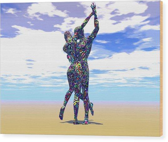 Surreal Dance Wood Print