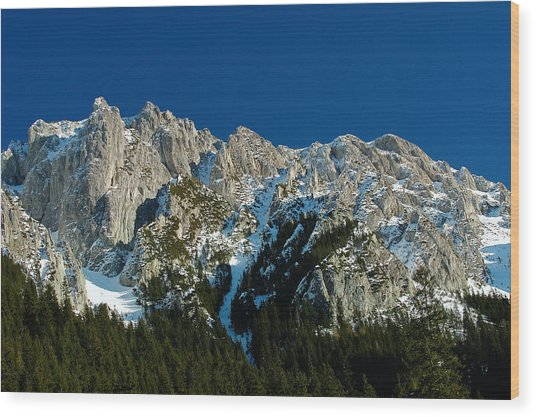 Tatra Mountains Winter Scenery Wood Print by Waldek Dabrowski