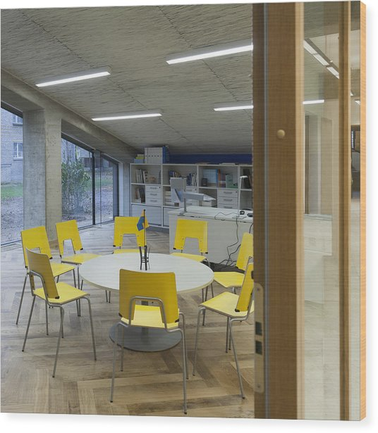 The Dining Area Of The New Buildings Wood Print by Jaak Nilson