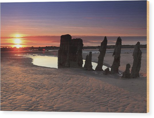 Ardrossan Sunset Wood Print