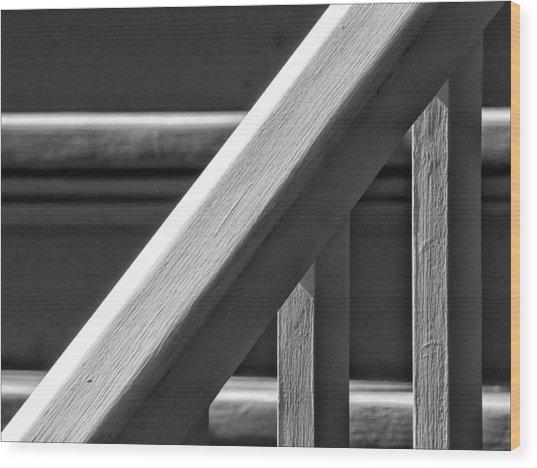 Bannister Wood Print by Robert Ullmann