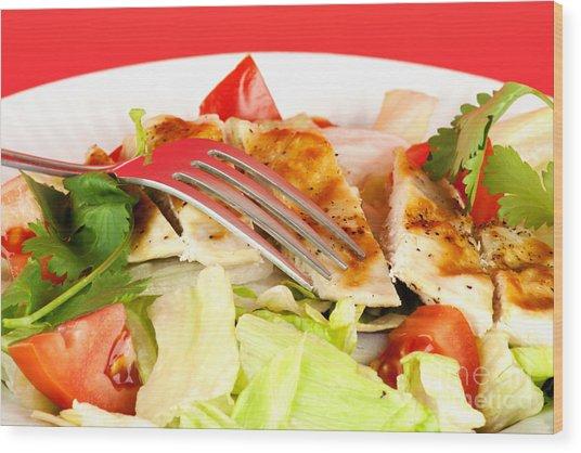 Chicken Salad Wood Print