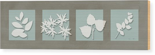 4 Flowers Wood Print by Nomi Elboim