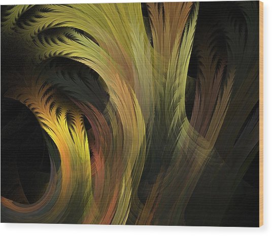 Grass Wood Print by Michele Caporaso