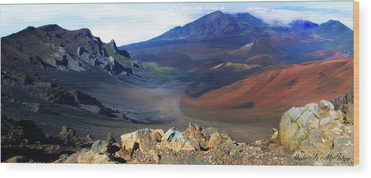 Haleakala Crater In Maui Hawaii Wood Print