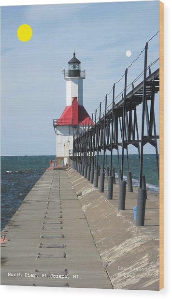 North Pier St Joseph Michigan Wood Print