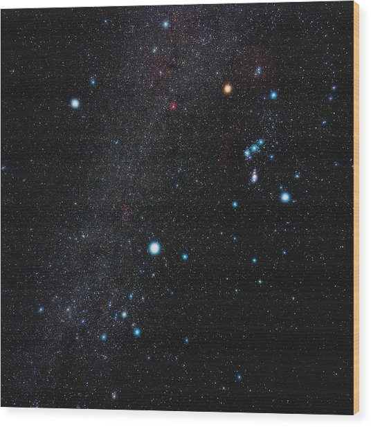 Orion Constellation Wood Print by Eckhard Slawik