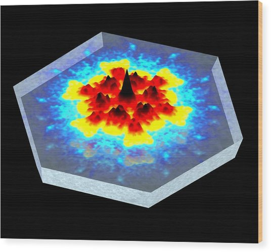 Quantum Waves In Topological Insulators Wood Print by Dr A. Yazdani
