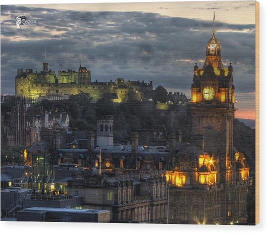 View Of Scotland Wood Print by Jose Luis Cezon Garcia