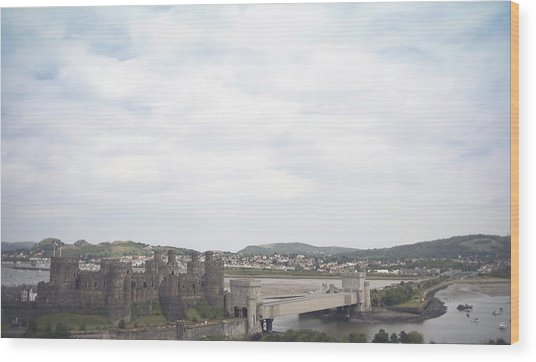 Conwy Castle Wood Print