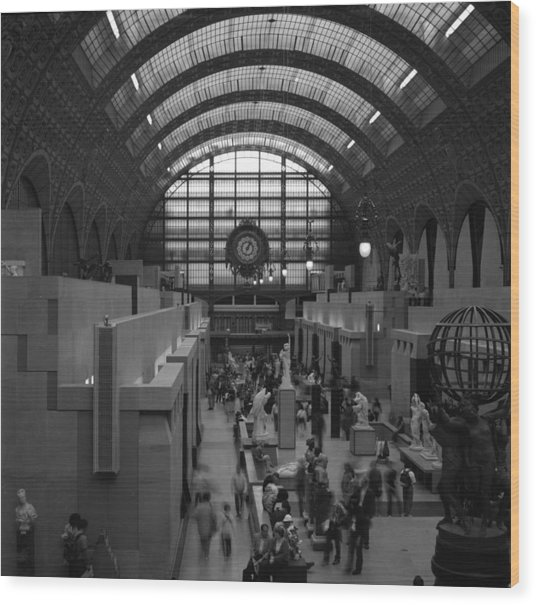5 Seconds In The Musee D'orsay Wood Print by Loud Waterfall Photography Chelsea Sullens