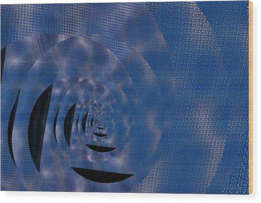 Twirling Shine Wood Print by Mihaela Stancu