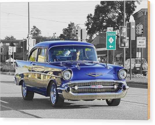 57 Chevy Selective Color Wood Print