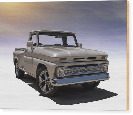'66 Chevy Pickup Wood Print