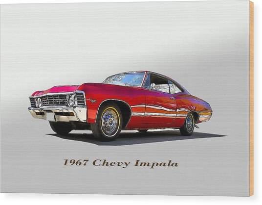 67 Chevy Wood Print by John Hix