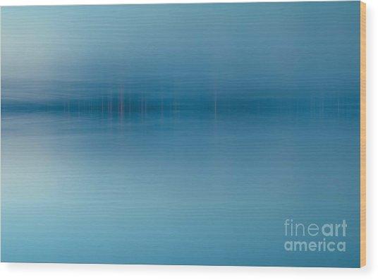 Blue Lake Wood Print by Odon Czintos