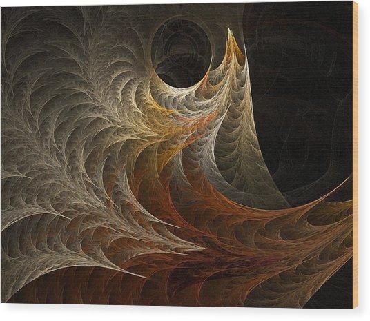 Ferns Wood Print by Michele Caporaso