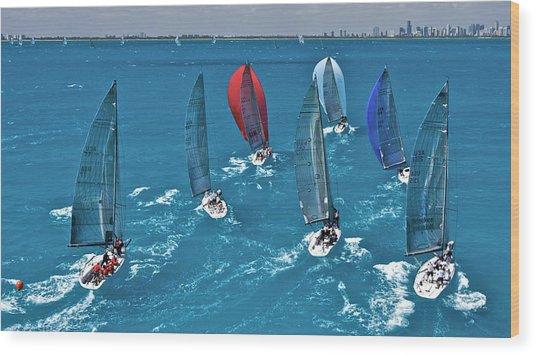 Miami Sail Week Wood Print