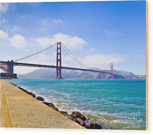 75 Years - Golden Gate - San Francisco Wood Print