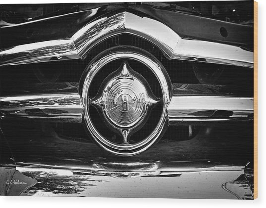 8 In Chrome - Bw Wood Print