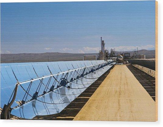 Solar Power Plant, California, Usa Wood Print by David Nunuk
