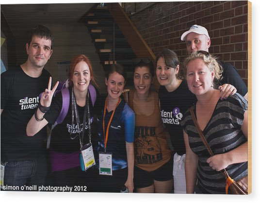 Australian Deaf Games 2012 Wood Print by Edan Chapman