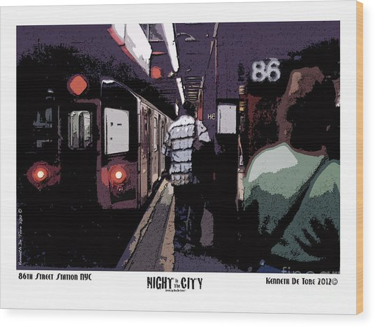 86th Street Wood Print