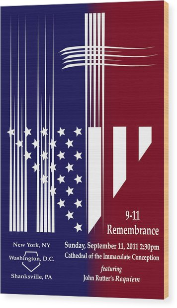 9-11 Rememberance Wood Print