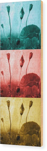 Poppy Art Image Wood Print by Falko Follert