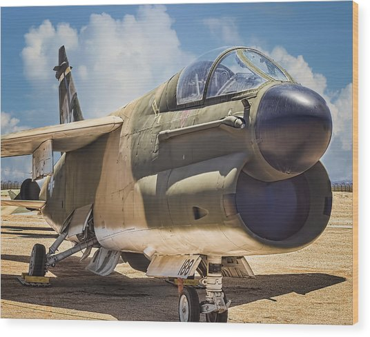A-7 Corsair II Wood Print