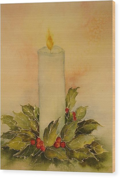 A Candle For Peace Wood Print