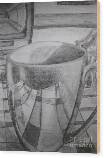 A Cup Of Reflections Wood Print
