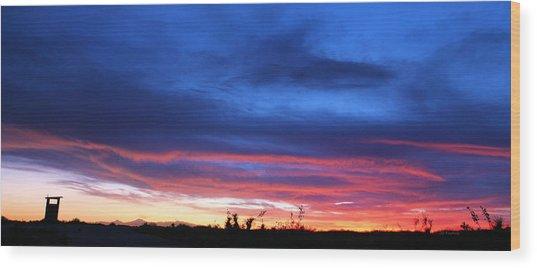 A Deeper Blue Wood Print by JC Findley