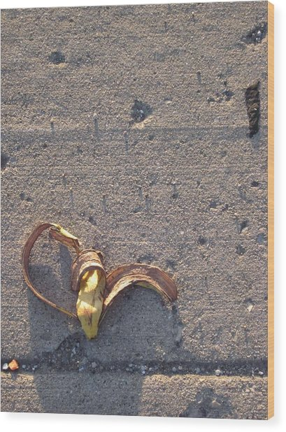 A Discarded Banana Is A Joy Forever Wood Print by Guy Ricketts