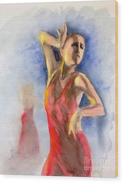 A Flamenco Dancer  2 Wood Print