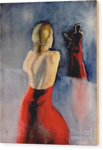 A Flamenco Dancer  3 Wood Print
