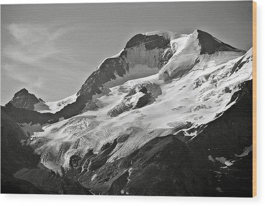 A Glacier In Jasper National Park Wood Print