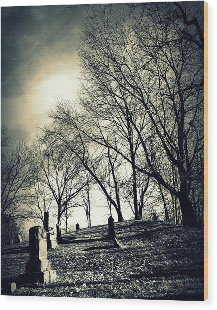 A Grave Situation Wood Print