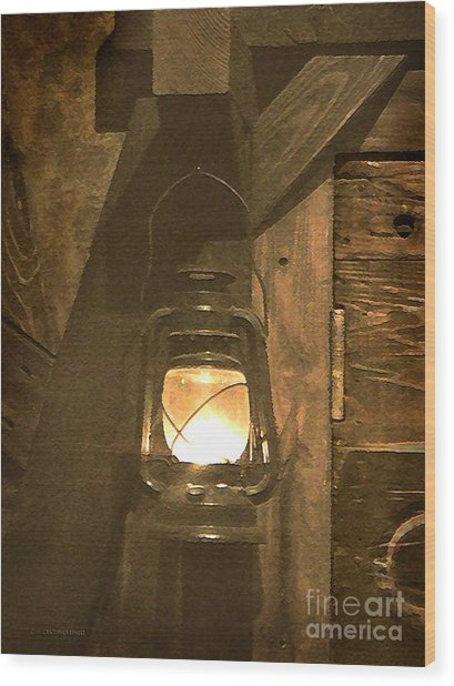 A Guiding Light Wood Print