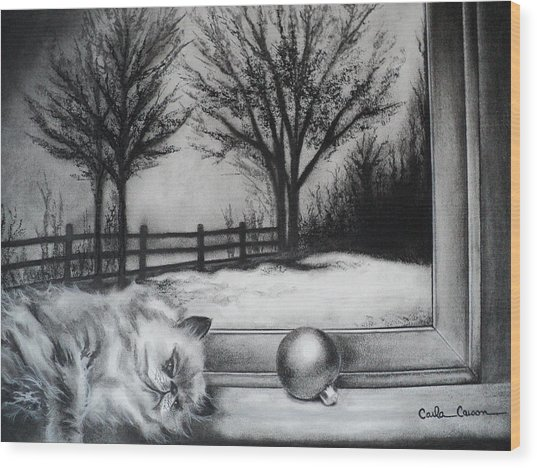 A Lazy Winter Day Wood Print