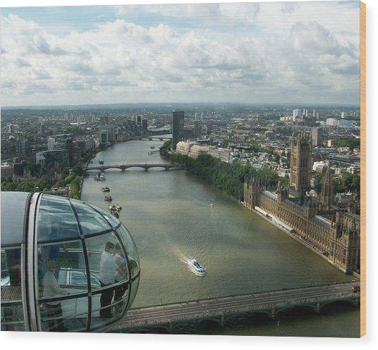 A London Eye's View Wood Print