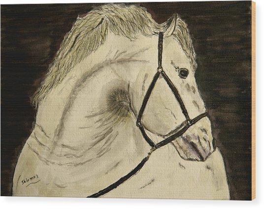A Noble Horse. Wood Print