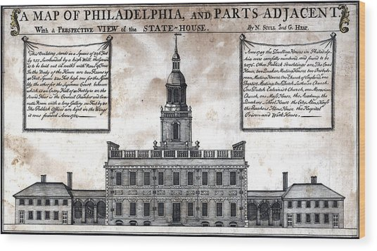 A Perspective View Of The State-house Wood Print by Everett