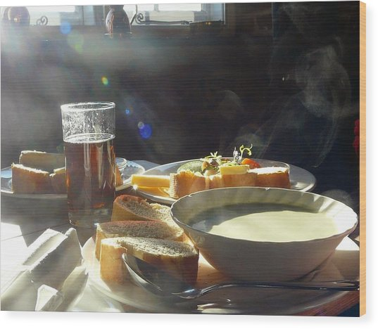 A Ploughman's Lunch Wood Print