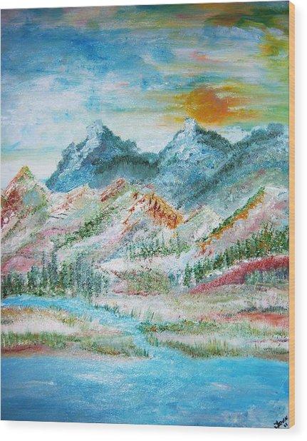 A River Runs Through  Wood Print by Fawn Whelahan