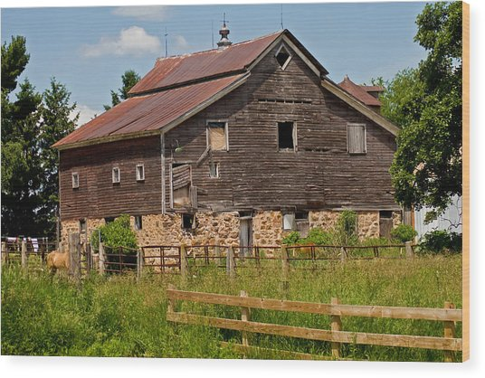 A Rustic Barn Wood Print by Wayne Stabnaw